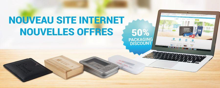 Nous célébrons la refonte de notre site web en vous offrant 50% sur tous nos emballages!